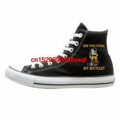 Women Men Casual Shoes Did You Steal My Bicycle Steelers Karma Juju Smith Schuster High top