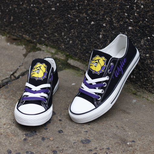 Wylie Bulldogs Limited High School Students Low Top Canvas Sneakers