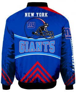 New York Giants Bomber Jacket Men Women