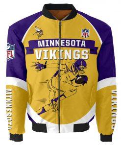 Minnesota Vikings Bomber Jacket Men Women