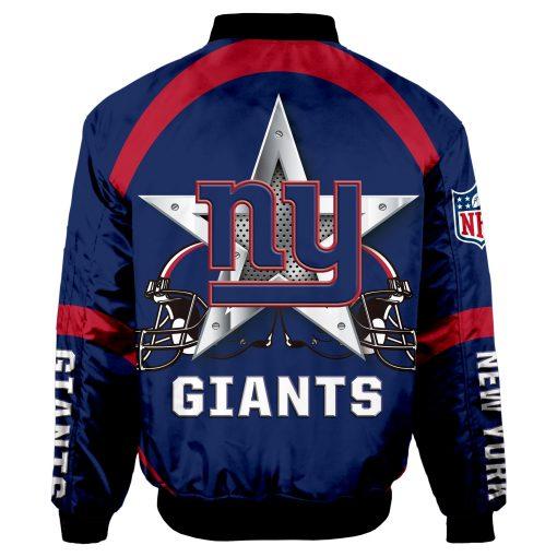 New York Giants Bomber Coat Men Women