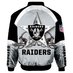 Oakland Raiders Air Force One Flight Jacket Unisex