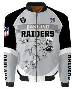 Oakland Raiders Air Force One Flight Jacket Unisex
