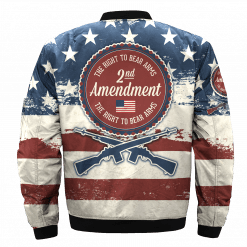 Custom America Veterans Bomber Jacket Men Women