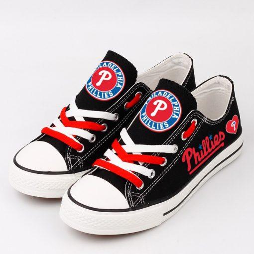 Philadelphia Phillies Limited Print Low Top Canvas Sport Sneakers