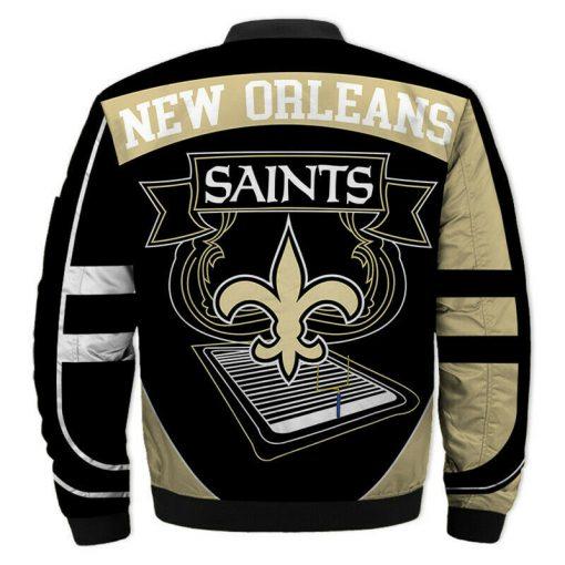 New Orleans Saints Bomber Unisex Coat