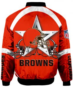 Cleveland Browns Bomber Jacket Men Women