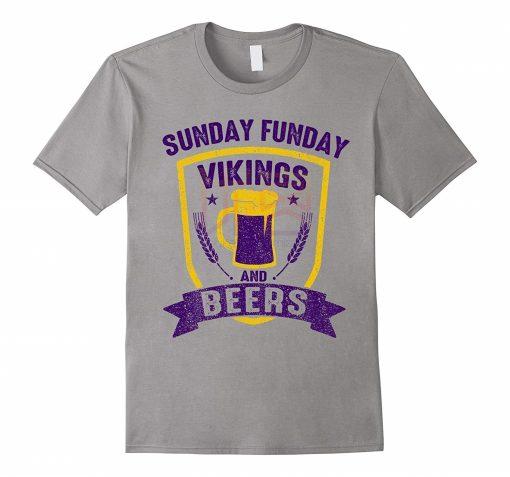 men shirt Sunday Funday Viking and Beers Minnesota Football Tee Shirt