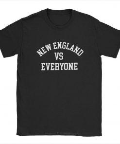 one yona New England VS Everyone T Shirts Men Football Patriots Baseball Printed Tops Funny T