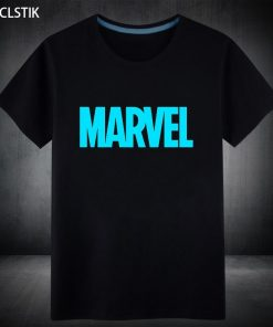 100 Cotton Mens Fluorescent Marvel Suprehero T Shirt Male Casual Short Sleeve Top Tshirt Ironman Spiderman