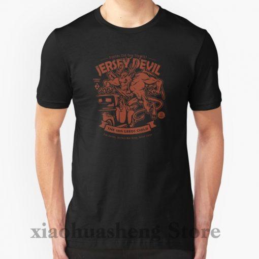 100 cotton o neck men t shirt custom printed t shirt Jersey Devil Cryptids Club Case