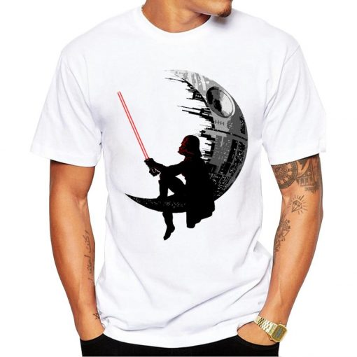 2018 New Fashion Darthworks Design Men T shirt Short Sleeve Hipster Star Wars Tops The Darth