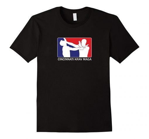 2019 Fashion Hot Sale Cincinnati Krav Maga Red and Blue Logo T Shirt Tee shirt