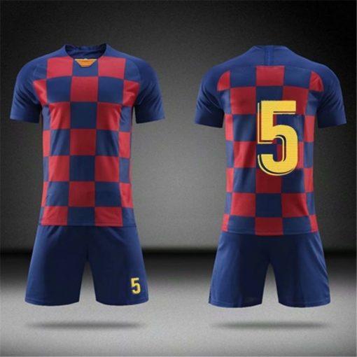 2019 Football jerseys Boys and girls Soccer Clothes Sets Men child Futbol Barcelona Training Uniforms Kids 1