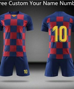 2019 Football jerseys Boys and girls Soccer Clothes Sets Men child Futbol Barcelona Training Uniforms Kids