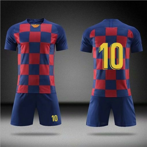 2019 Football jerseys Boys and girls Soccer Clothes Sets Men child Futbol Barcelona Training Uniforms Kids 3