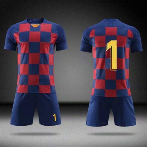 2019 Football jerseys Boys and girls Soccer Clothes Sets Men child Futbol Barcelona Training Uniforms Kids 5
