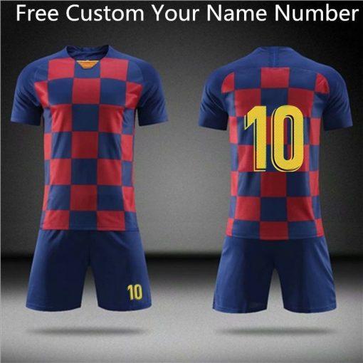 2019 Football jerseys Boys and girls Soccer Clothes Sets Men child Futbol Barcelona Training Uniforms Kids