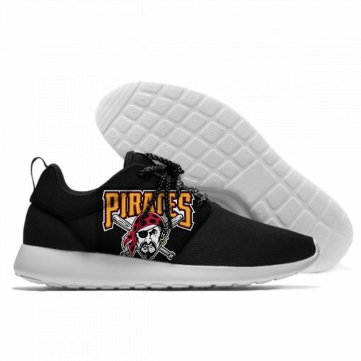 2019 Hot Fashion Printing Pittsburgh Pirates Logos Lightweight Sport Shoes for Walking for Family Friends