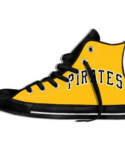2019 Hot Fashion Printing Pittsburgh Pirates Logos Lightweight Sport Shoes for Walking for Family Friends 9