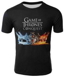 2019 Hot Sale Game of Thrones tshirt Men Targaryen Fire Blood Dragon tee shirt game of 1