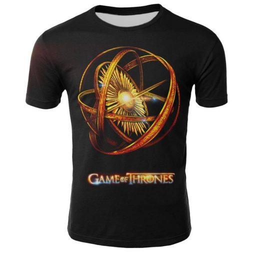 2019 Hot Sale Game of Thrones tshirt Men Targaryen Fire Blood Dragon tee shirt game of 2
