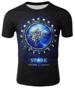 2019 Hot Sale Game of Thrones tshirt Men Targaryen Fire Blood Dragon tee shirt game of