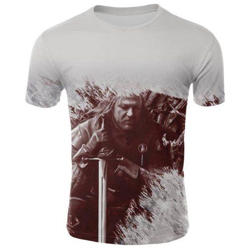 2019 Hot Sale Game of Thrones tshirt Men Targaryen Fire Blood Dragon tee shirt game of 4