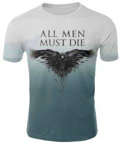 2019 Hot Sale Game of Thrones tshirt Men Targaryen Fire Blood Dragon tee shirt game of 5