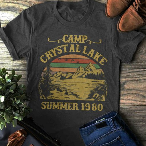 2019 Hot Sale Super Fashion Camp Crystal Lake T shirt Friday the 13th Shirt Jason Voorhees