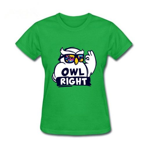 2019 Hot Sale women s shirt Harry Casual Tops Potter Cute girls Stylish Owl right Printed 2