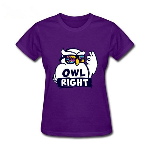 2019 Hot Sale women s shirt Harry Casual Tops Potter Cute girls Stylish Owl right Printed 3