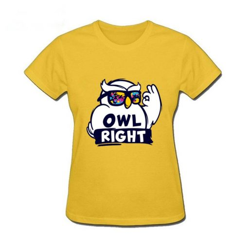2019 Hot Sale women s shirt Harry Casual Tops Potter Cute girls Stylish Owl right Printed