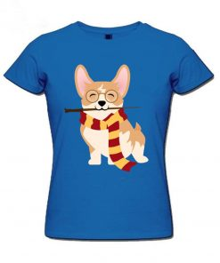2019 Hot sale Corgi Cosplayed As Harry Tshirt Unique Potter Gryffin Corg T Shirt Women 100 1