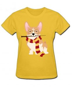 2019 Hot sale Corgi Cosplayed As Harry Tshirt Unique Potter Gryffin Corg T Shirt Women 100 3