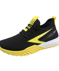 2019 Men s fly knit sneakers fashion casual breathable basketball shoes two color platform sneakers basketball 2