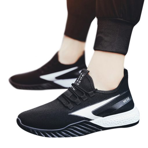 2019 Men s fly knit sneakers fashion casual breathable basketball shoes two color platform sneakers basketball 4