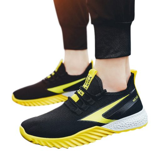 2019 Men s fly knit sneakers fashion casual breathable basketball shoes two color platform sneakers basketball 5