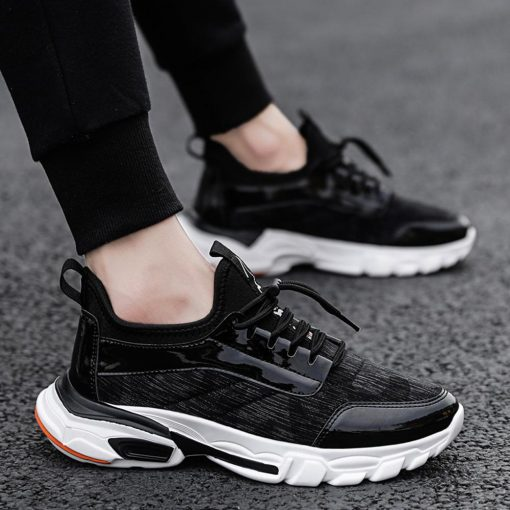 2019 Men s flying knit sneakers breathable casual basketball shoes fashion color matching sneakers basketball shoes 2