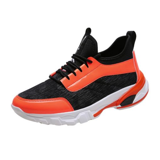 2019 Men s flying knit sneakers breathable casual basketball shoes fashion color matching sneakers basketball shoes 4