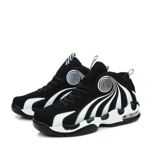 2019 Men s shock absorbing non slip basketball shoes fashion comfortable breathable sneakers basketball shoes high 4