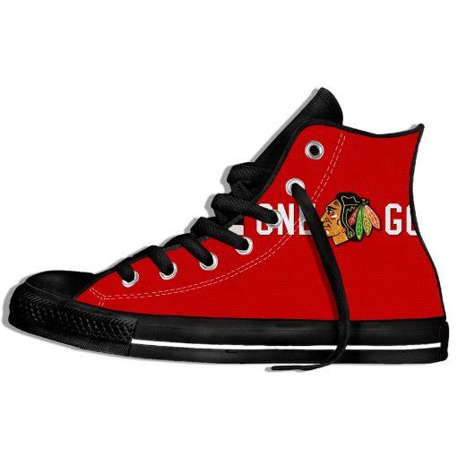 2019 Mens Women Fashion Blackhawks Sneakers Comfortable Chicago Lace Up Unisex Shoes 2