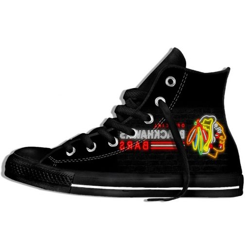 2019 Mens Women Fashion Blackhawks Sneakers Comfortable Chicago Lace Up Unisex Shoes 3