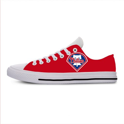 2019 New Arrival Professional Baseball Teams Breathable Casual Shoes Philadelphia Phillies Women men Lightweight Shoes 1