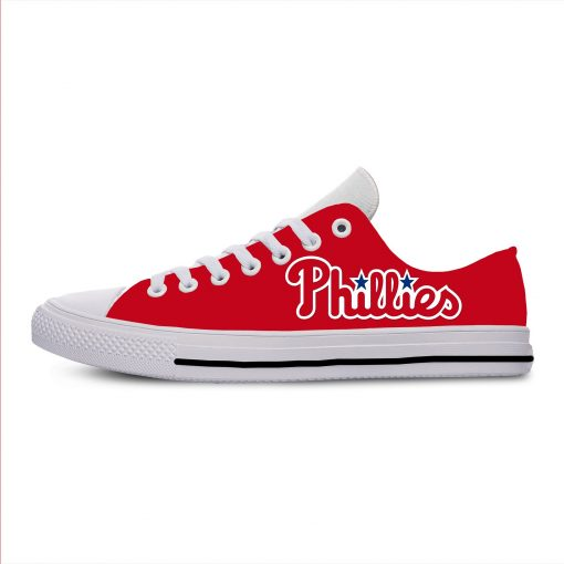 2019 New Arrival Professional Baseball Teams Breathable Casual Shoes Philadelphia Phillies Women men Lightweight Shoes