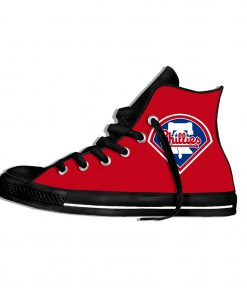 2019 New Arrival Professional Baseball Teams Breathable Casual Shoes Philadelphia Phillies Women men Lightweight Sneakers 3