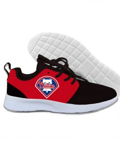 2019 New Arrival Women men Professional Baseball Teams Breathable Casual Shoes Phillies Philadelphia Lightweight Shoes 2