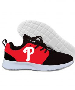 2019 New Arrival Women men Professional Baseball Teams Breathable Casual Shoes Phillies Philadelphia Lightweight Shoes 8