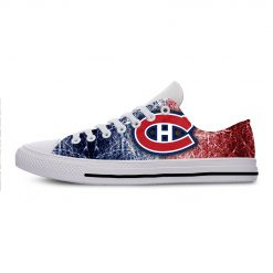 2019 New Creative Design For Ice Hocky High Top Custom Shoes Montreal Canadien shoes Flat Casual
