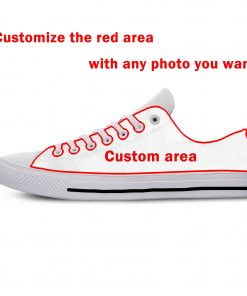 2019 New Creative Design For Ice Hocky High Top Custom Shoes Montreal Canadien shoes Flat Casual 3